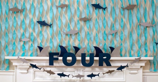 JAWsome Shark Themed Birthday Party via Kara's Party Ideas KarasPartyIdeas Party supplies, cake, decor, printables, cupcakes, and more! #sharkparty #sharkcake #partyplanning #boypartyideas #sharkbirthdayparty (4)