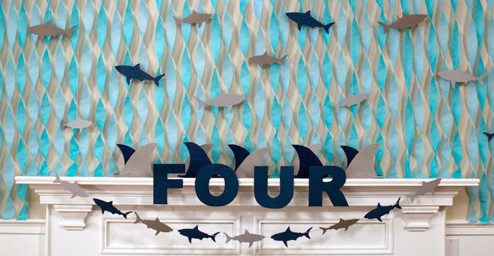 JAWSome Shark Themed Birthday Party