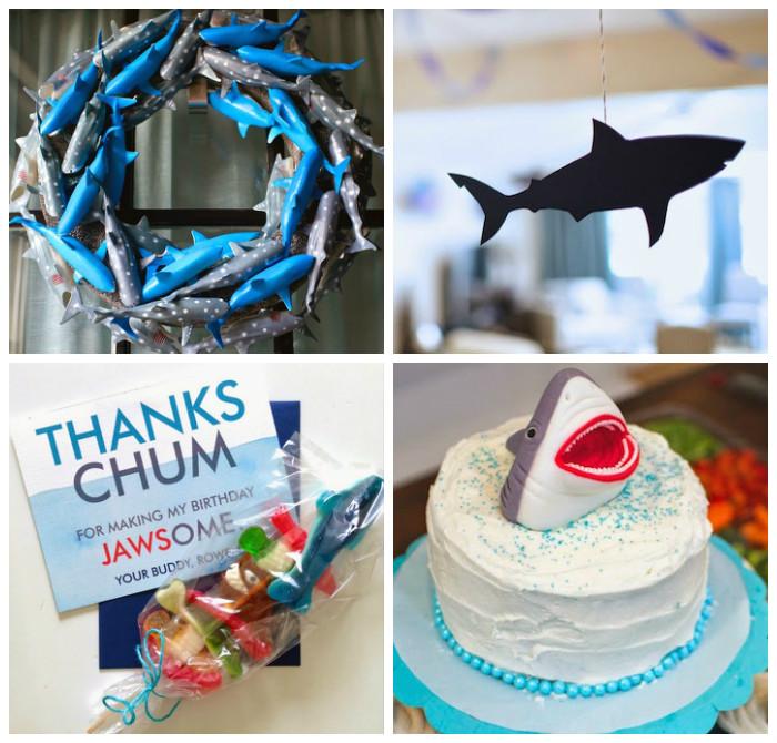 Karas Party Ideas JAWsome Shark Themed Birthday Party via Karas