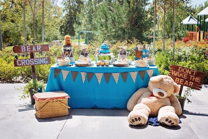Teddy Bear Picnic Baby Shower Via Karau0027s Party Ideas KarasPartyIdeas.com  Cake, Decor,