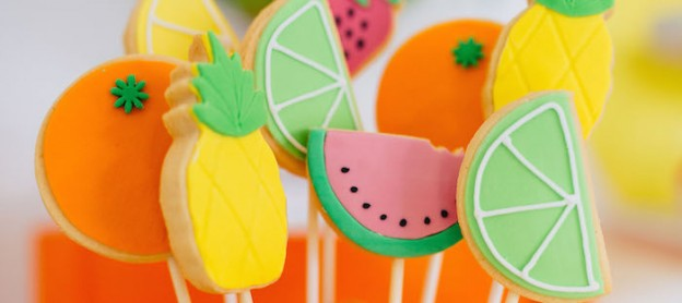 Tutti Frutti Birthday Party via Kara's Party Ideas KarasPartyIdeas.com Party supplies, cake, tutorials, desserts, favors, food, banners, and more! #tuttifrutti #tuttifruttiparty #fruitparty #tuttifruttipartyideas #tuttifrutticake (1)
