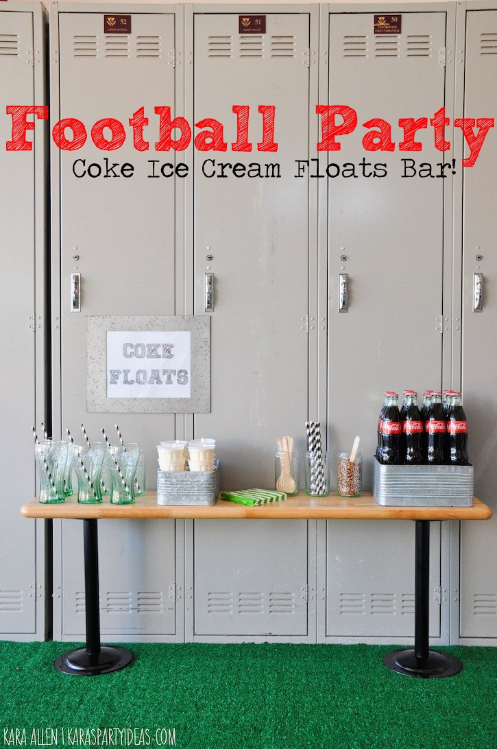 Even though the focus is on the food, you can set up the party in a unique way to create visual interest.