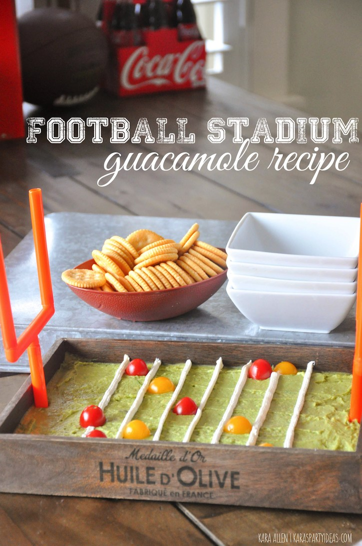 You can get a little more fancy and creative with this game day food DIY