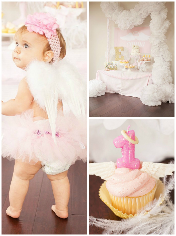 kara u0026 39 s party ideas little angel 1st birthday party via