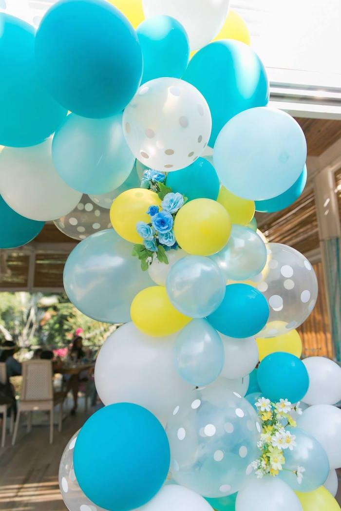 Kara s party ideas yellow blue baby shower via