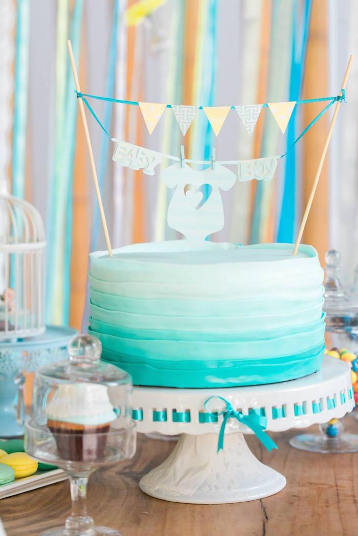 Kara S Party Ideas Yellow Blue Baby Shower
