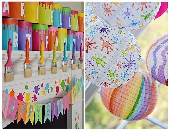 Kara 39 s party ideas art themed 3rd birthday party via kara for Art deco party decoration ideas