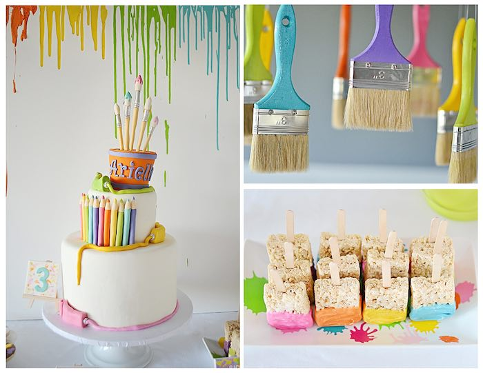 Kara s Party Ideas Art Themed 3rd Birthday Party via KARA ...