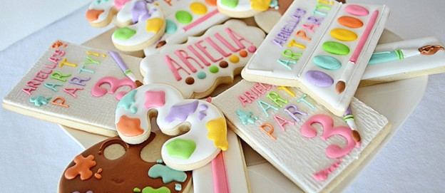 Art Themed 3rd Birthday Party via KARA'S PARTY IDEAS KARASPARTYIDEAS.COM The Place for All Things Party! Cake, decor, printables, favors, and more! #art #artparty #artpartysupplies #karaspartyideas #girlparty #artsupplies #artcake #partyplanning (2)