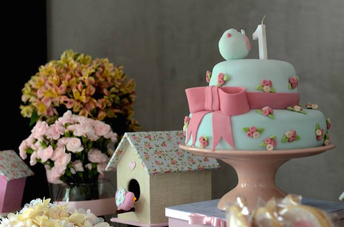 Kara S Party Ideas Little Bird Themed Birthday Party