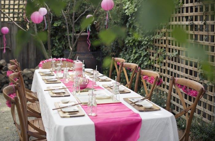 Kara S Party Ideas Cherry Blossom Spa Themed Birthday