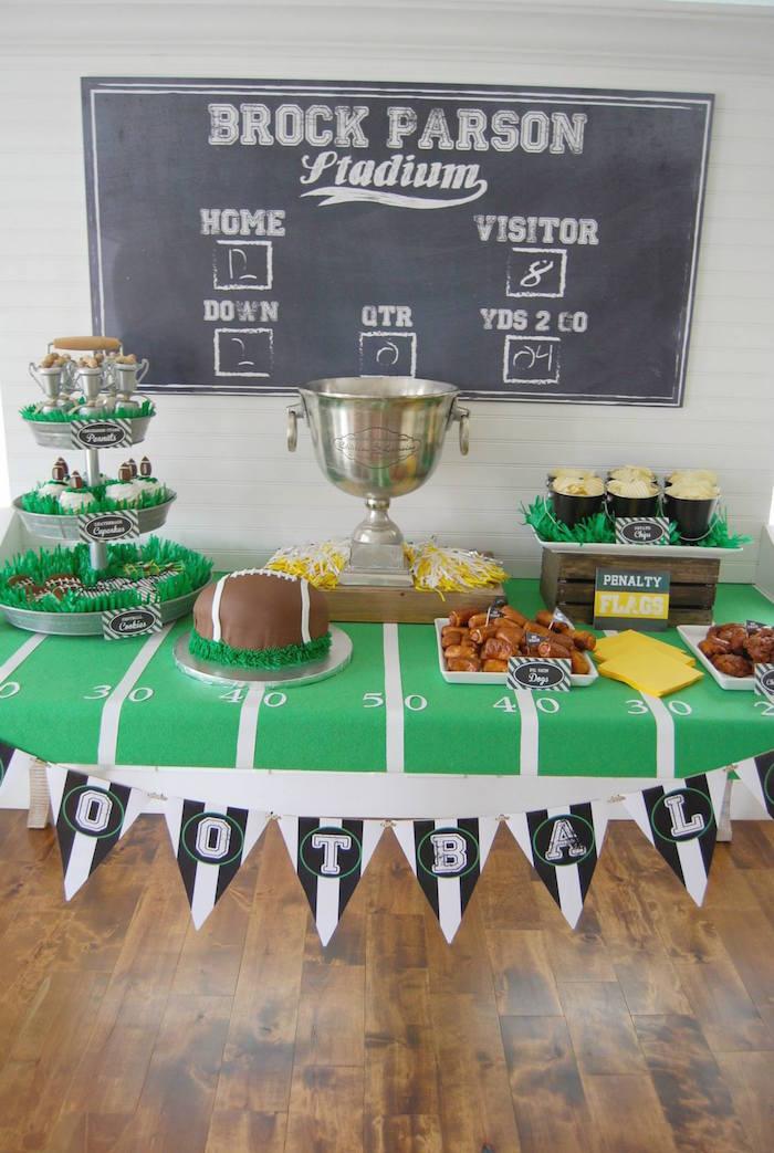 football party via kara's party ideas