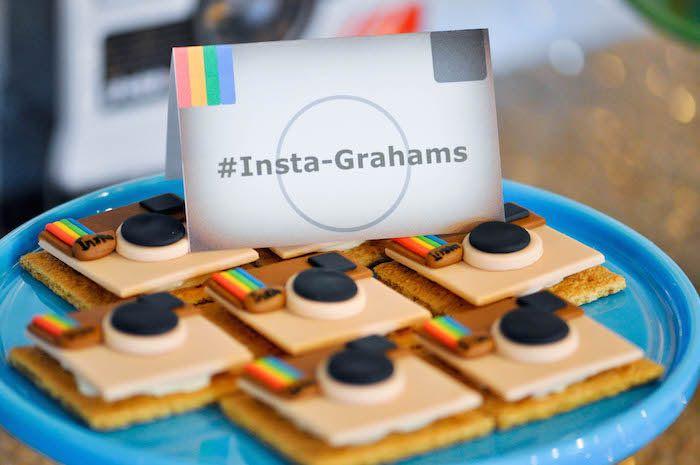 Glam Instagram Themed 13th Birthday Party Via Karas Ideas KarasPartyIdeas Printables Cake