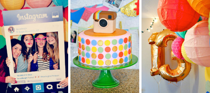 Karas Party Ideas Glam Instagram Themed 13th Birthday
