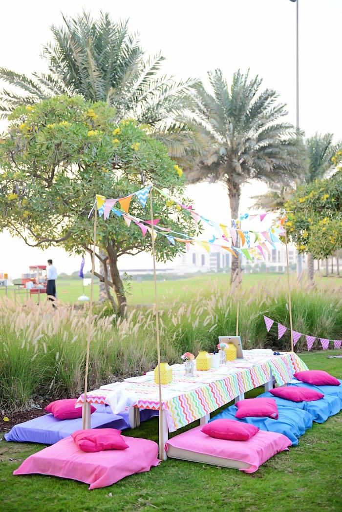 Kara S Party Ideas Glamping Themed Birthday Party Via Kara