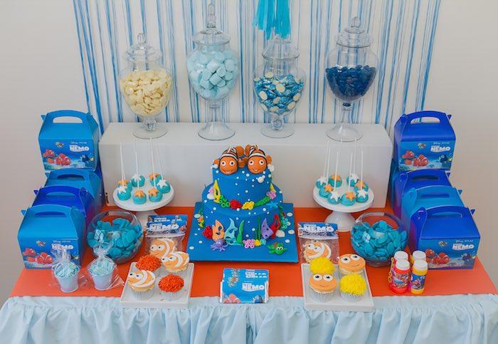 Kara S Party Ideas Finding Nemo Themed Birthday Party Via