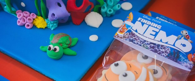 Finding Nemo themed birthday party via Kara's Party Ideas KarasPartyIdeas.com Pritnables, supplies, cake, tutorials, banners, food, and more! #findingnemo #findingnemoparty #nemoparty #findingnemopartysupplies (16)