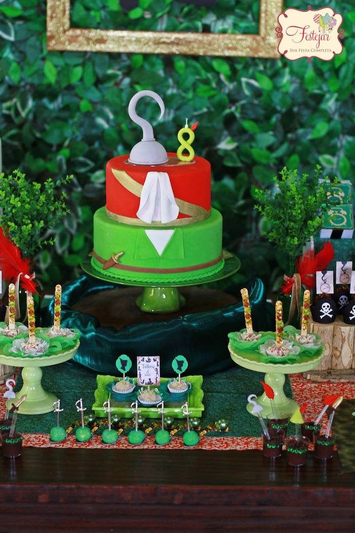 Peter Pan Themed Birthday Cake
