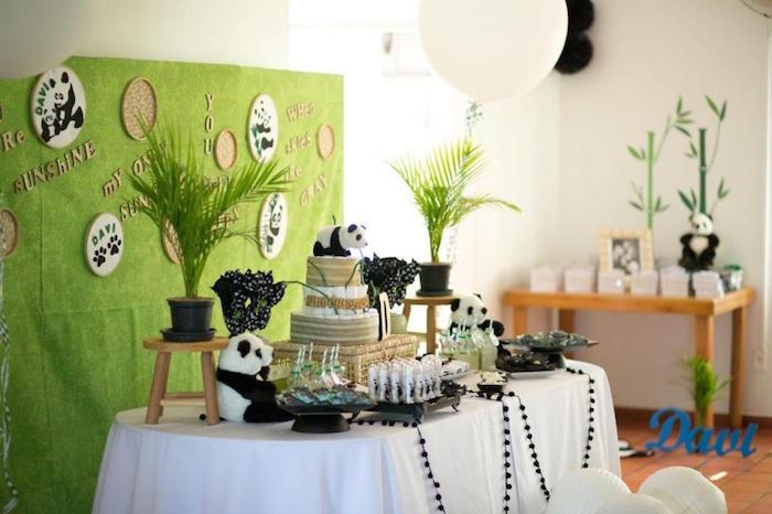 Panda Bear Themed Baby Shower Via Karau0027s Party Ideas KarasPartyIdeas.com  Party Supplies, Tutorials