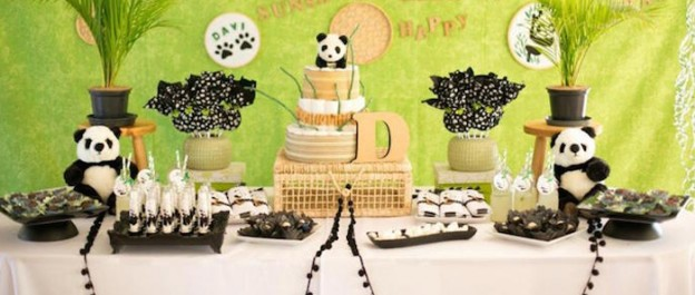 Panda Bear Themed Baby Shower via Kara's Party Ideas KarasPartyIdeas.com Party supplies, tutorials, recipes, printables, cake, banners and more! #panda #pandabear #pandabearparty #genderneutralparty #pandabearbabyshower #karaspartyideas #partyplanning #partydesign (1)