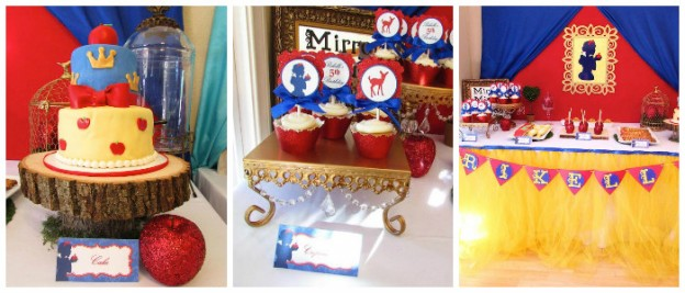 Snow White Themed Birthday Party via Kara's Party Ideas KarasPartyIdeas.com Cake, decor, printables, cupcakes, favors, giveaways and more! #snowwhite #snowwhiteparty #snowwhiteandthesevendwarfs #poisonedapple #snowwhitepartyideas #snowwhitebirthday #snowwhitecake (2)