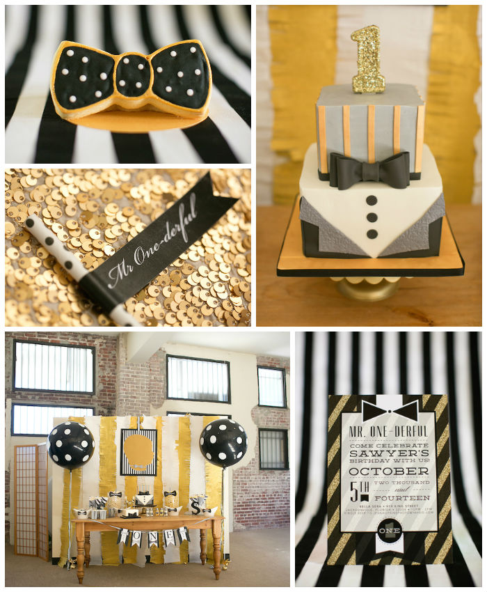 Kara S Party Ideas Mr Onederful Tuxedo Themed 1st