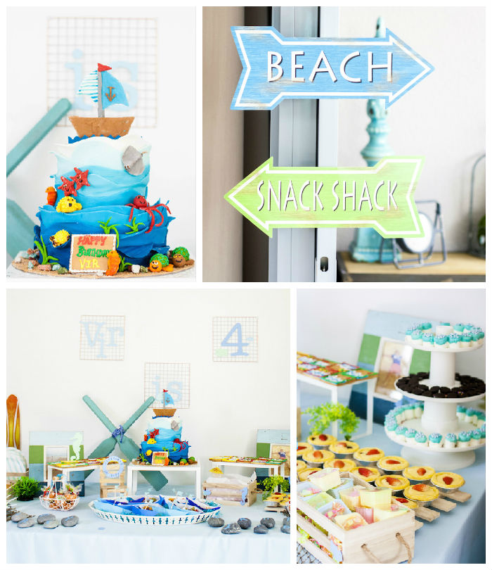 Beach Bash 4th Birthday Party Via Karas Ideas KARASPARTYIDEASCOM Full Of