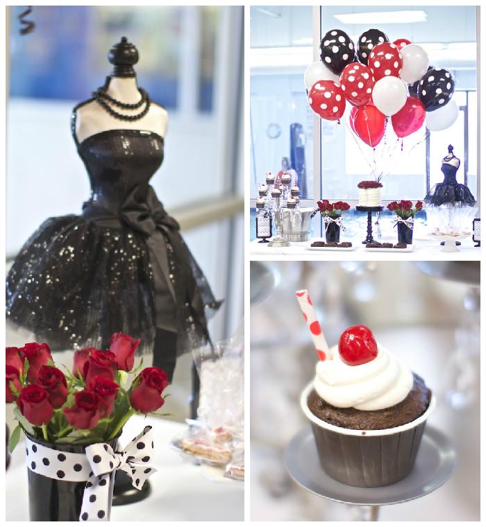 Elegant Party Decoration Ideas: Kara's Party Ideas Black, White + Red Elegant Birthday