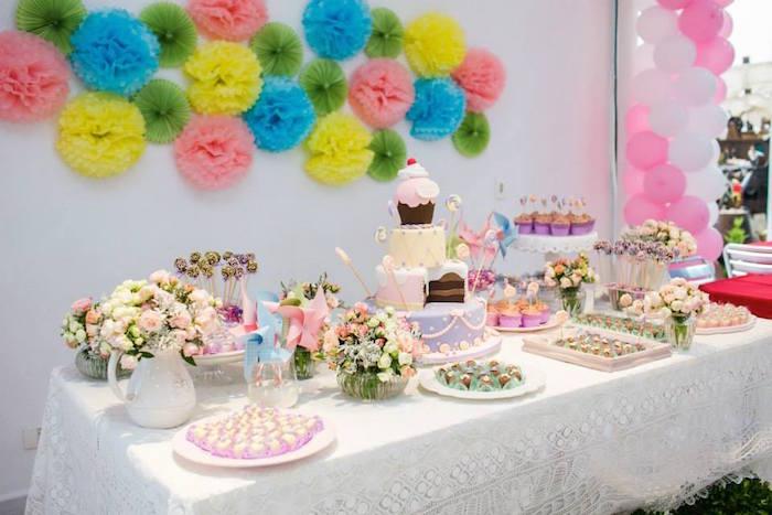 Candy Garden Themed Birthday Party Via Kara S Ideas Karaspartyideas The Place For All