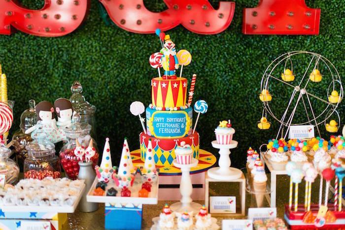 Circus Carnival Birthday Party Via Karas Ideas KarasPartyIdeas Supplies Cake