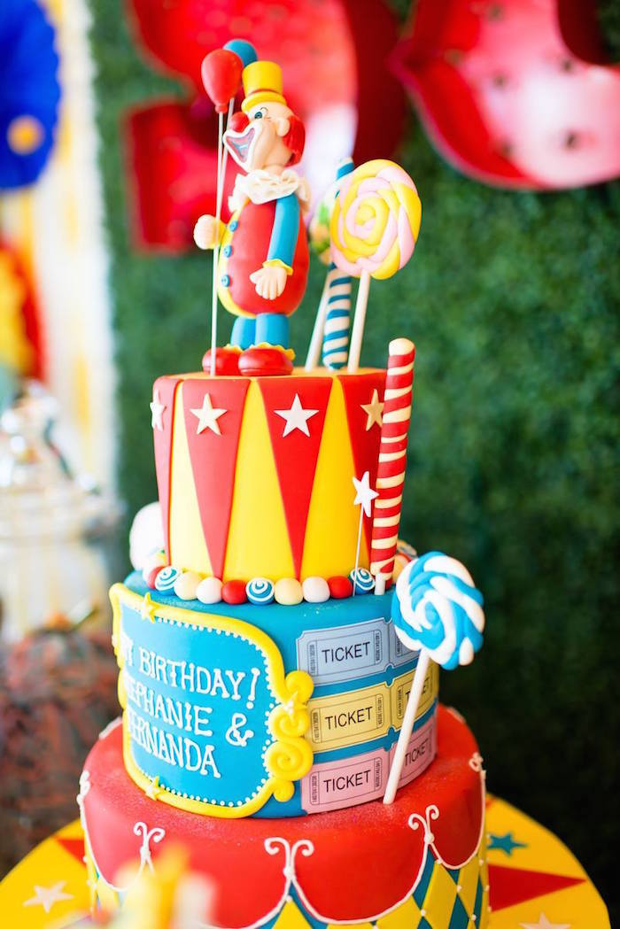 Ideas For A Carnival Birthday Cake