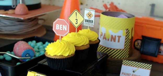 Construction themed birthday party via Kara's Party Ideas KarasPartyIdeas.com The Place for All Things Party! #construction #constructionparty #underconstruction #constructioncakeideas #constructionpartydecor (1)