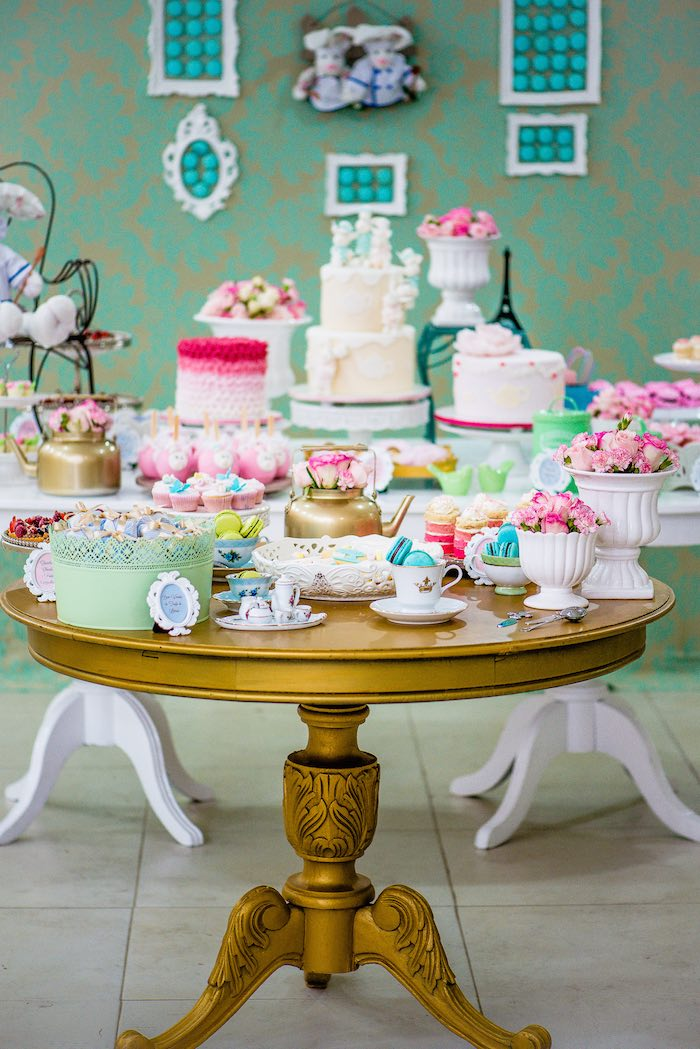 Karas Party Ideas French Patisserie Baking Themed Birthday
