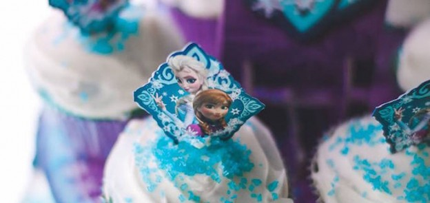 Frozen Birthday Party via Kara's Party Ideas KarasPartyIdeas.com Cake, decor, supplies, banners, favors and more! #frozen #frozenparty #elsaandanna #elsacake #frozenbirthdayparty (1)