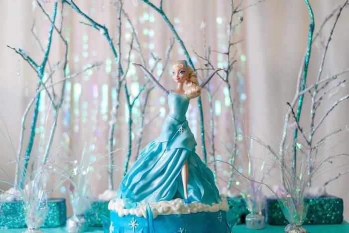 Frozen Birthday Party Via Karas Ideas KarasPartyIdeas Cake Decor Supplies