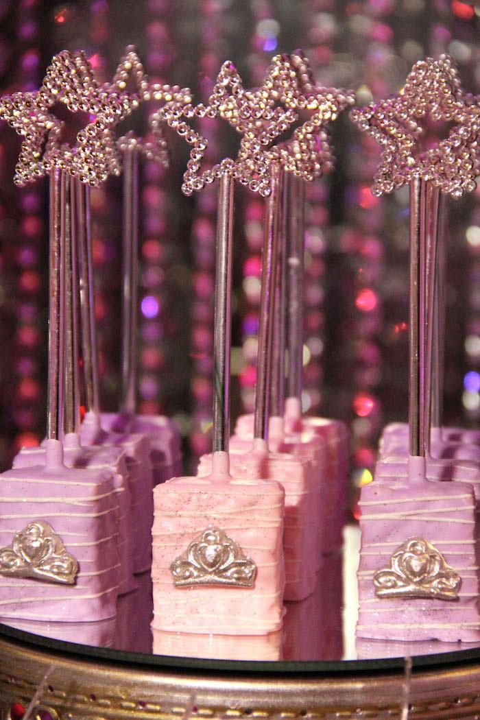 Karas Party Ideas Glamorous Princess Themed Birthday Party via