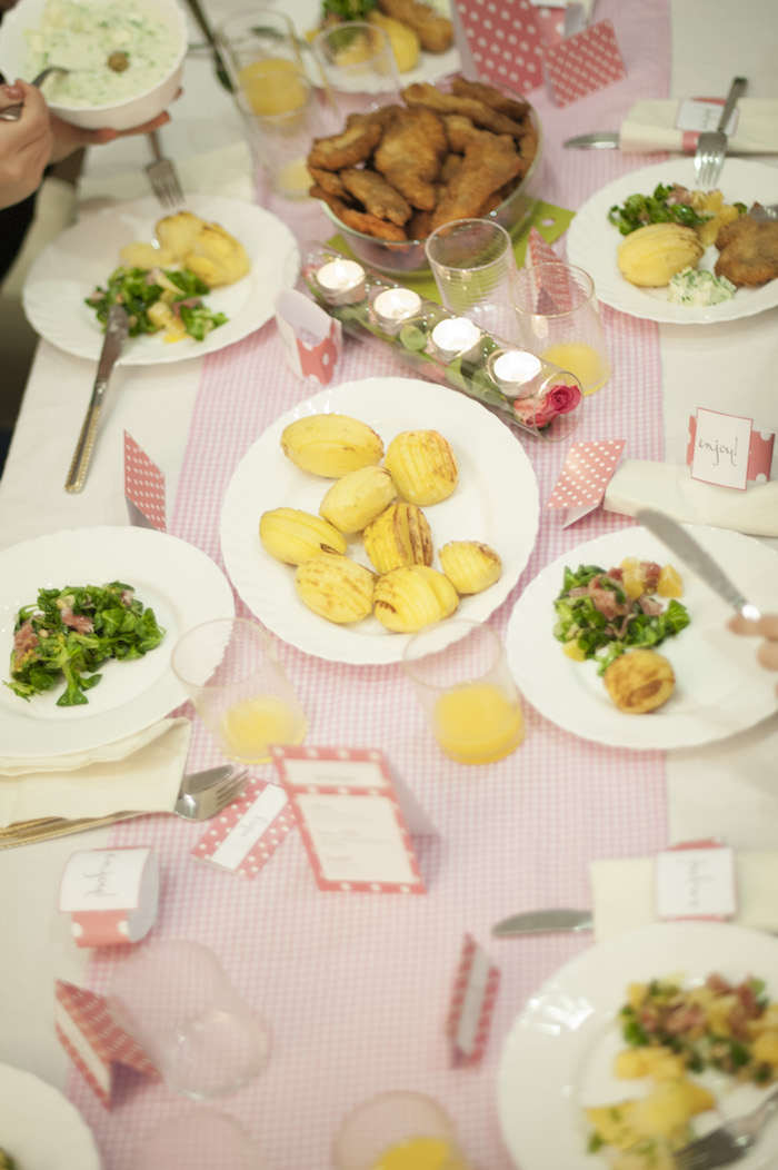 Amazing Ladies Dinner Party Ideas Part - 8: Ladies Night Pink Polka Dot Dinner Party Via Karau0027s Party Ideas  KarasPartyIdeas.com #dinnerparty