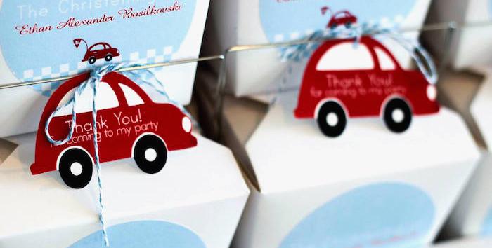 Karas Party Ideas Little Red Car Race Car Themed Birthday Party
