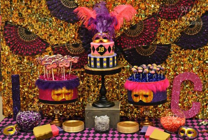 Masquerade Th Birthday Cake