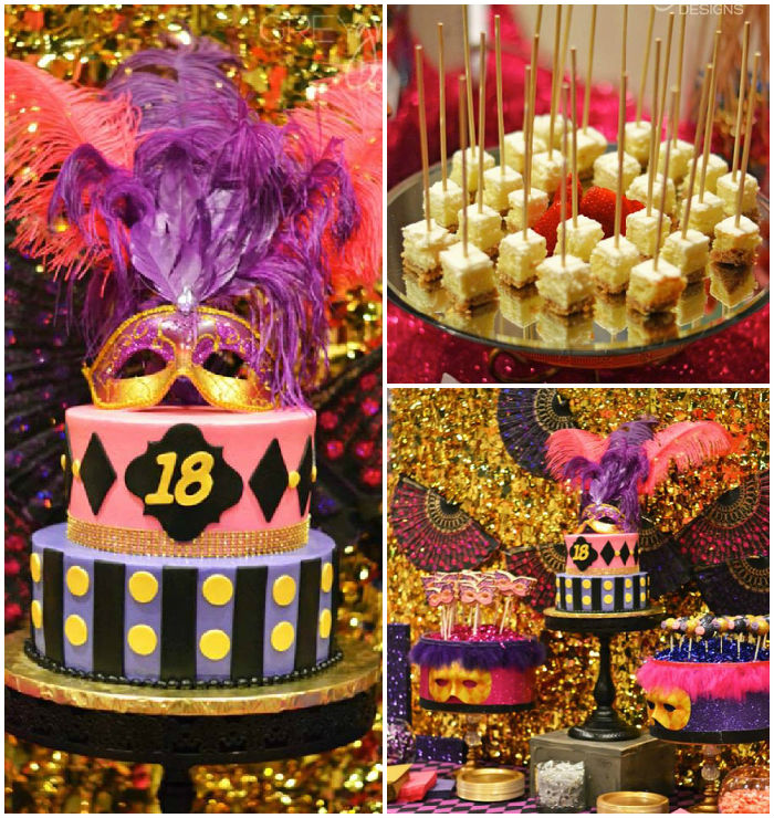 Kara 39 s party ideas masquerade 18th birthday party via for 18th birthday decoration ideas for girls