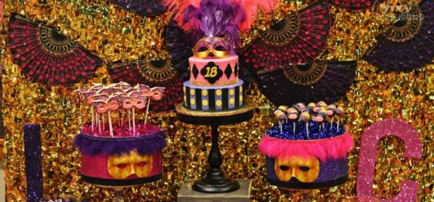 Masquerade 18th Birthday Party via Kara's Party Ideas KarasPartyIdeas.com Cake, decor, printables, favors and more! #masquerade #masqueradeparty #eighteenthbirthday #dinnerparty #costumeparty (1)