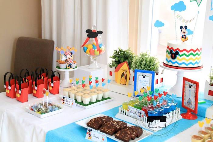 Karas Party Ideas Mickey Mouse themed birthday party ...