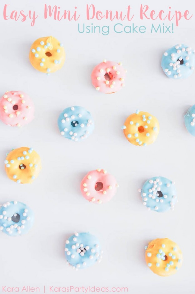Mini Doughnut recipe via Kara's Party Ideas | Kara Allen! Donuts are the newest party trend!_-10 copy