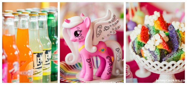 My Little Pony Birthday Party via Kara's Party Ideas KarasPartyIdeas.com Cake, decor, tutorials, recipes, favors and MORE! #mylittlepony #mylittleponyparty #ponyparty #rainbowparty #girlpartyideas (2)