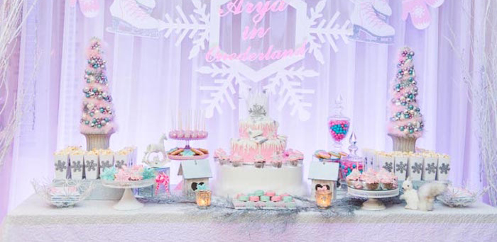 Kara S Party Ideas Pastel Winter Onederland Themed
