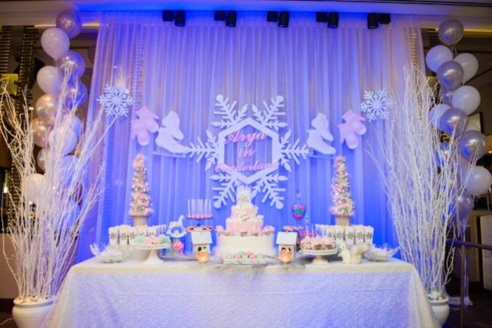 Kara S Party Ideas Pastel Winter Onederland Themed