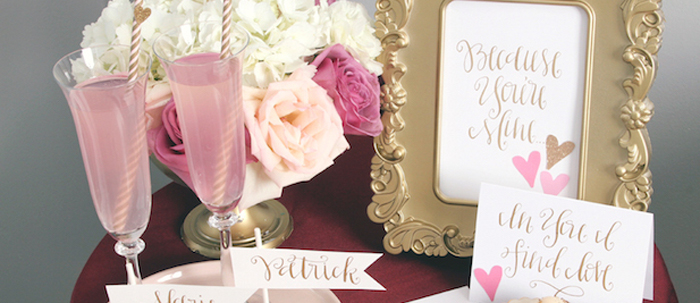 karas party ideas pink red love themed bridal shower