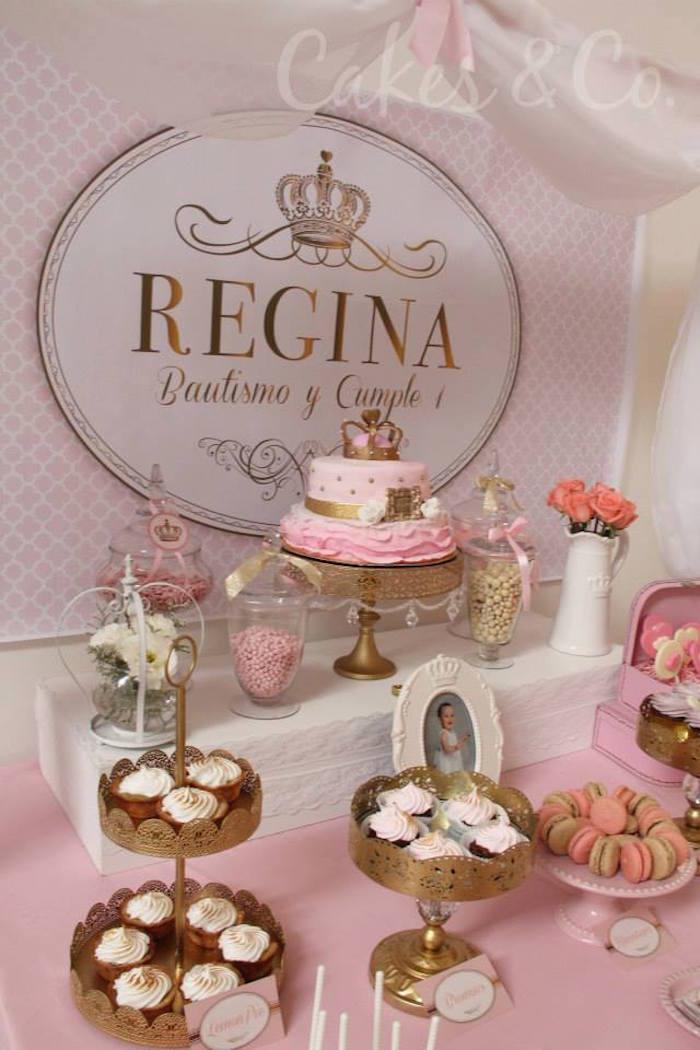 Pink Gold Princess 1st Birthday Party Via Karas Ideas KarasPartyIdeas Cake