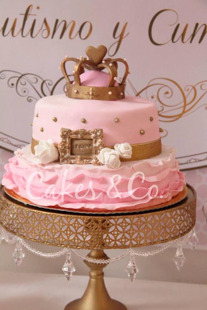 Karas Party Ideas Pink Gold Princess 1st Birthday Party via