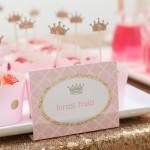 Pink & Gold Princess Birthday Party via Kara's Party Ideas KarasPartyIdeas.com Printables, cake, decor, tutorials, and more! #princess #princessparty #pinkandgold #goldandpink #partyplannign #partystyling #karaspartyideas (1)